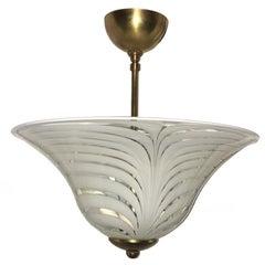 Blown Glass Murano Light Fixture