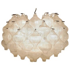 Blown Glass Tulipan Chandelier by J.T. Kalmar, Austria, 1960s