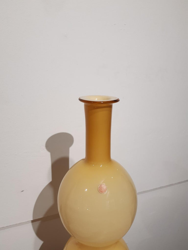 Blown Murano Glass Vase, 1970s, Italy For Sale 4