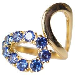 Blu Sapphire 18 Karat Gold Ring