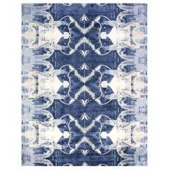 Blucie Designed Hand-knotted Silk Rug