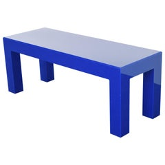 Blue Acrylic Coffee Table, 1980s