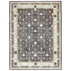 Blue Afghan Hand Knotted Rug