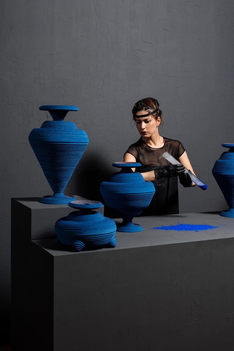 Blue Alchemy Vase by Siba Sahabi In New Condition For Sale In Geneve, CH