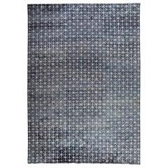 Blue All-over Design Contemporary Rug