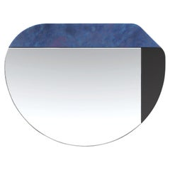 Blue and Black WG.C1.E Hand-Crafted Wall Mirror