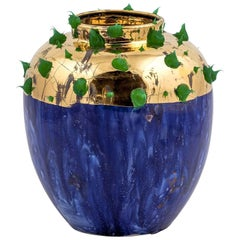 Blue and Gold Vase