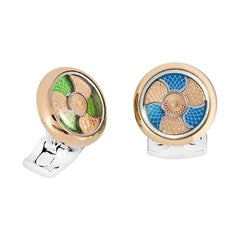 Deakin & Francis Blue and Green Colour Change Cufflinks