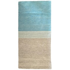 Blue and Grey Ombre Short Runner Rug, in Stock