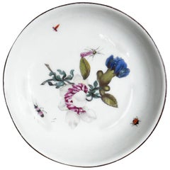 Blue and Purple Floral Meissen Dish