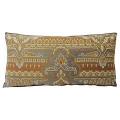 Blue and Rust Arts & Crafts Long Bolster Decorative Pillow