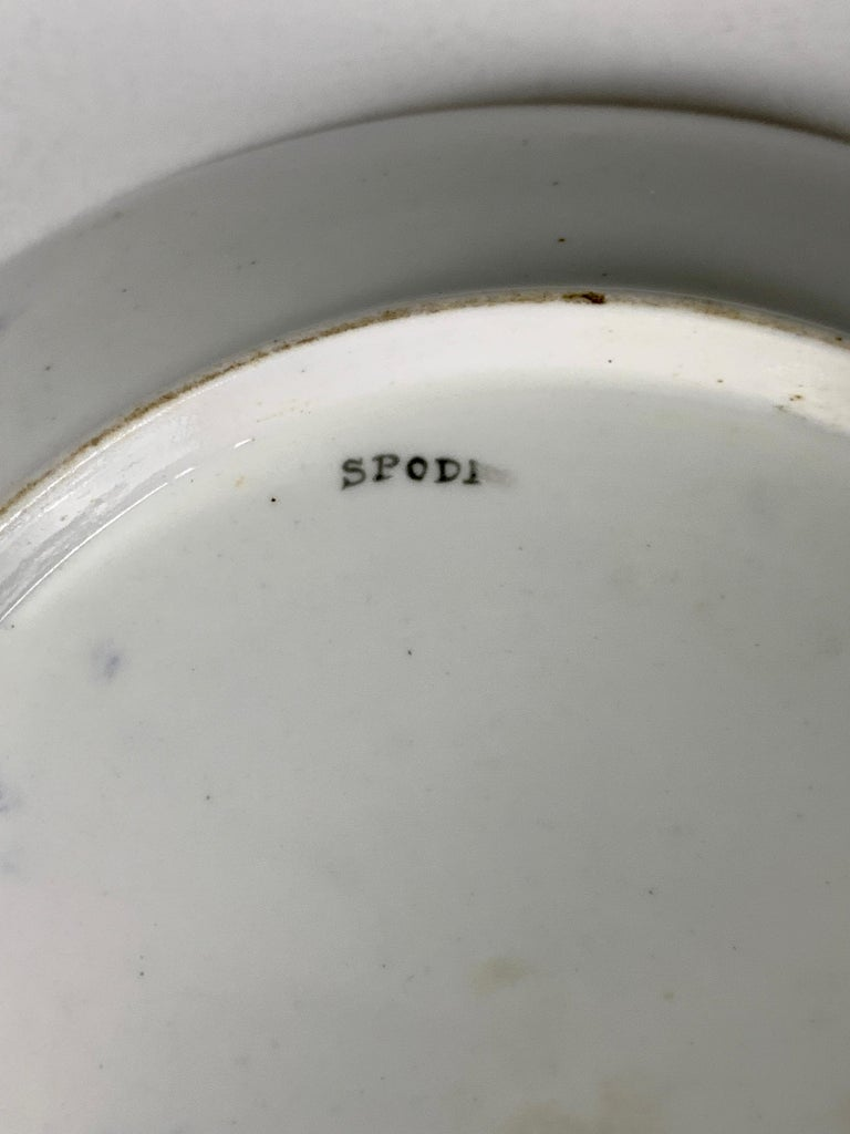 Blue and White and Gold Dish Made in England by Spode, Circa 1820 For Sale 2