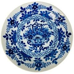 Blue and White Antique Dutch Delft Plate Made circa 1820