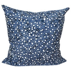 Blue and White Batik Double Side Down Fill Pillow with Zip Closure