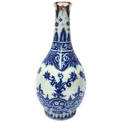 Blue and White Bottle Vase, Delftware by Adrianus Kocx
