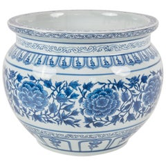 Blue and White Cachpot