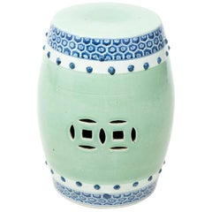 Blue and White Celadon Garden Seat