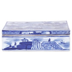 Blue and White Chinese Export Style Porcelain Box