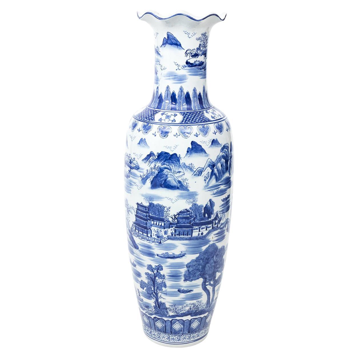 Blue and White Chinese Palace Vase