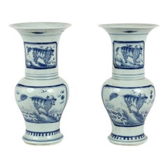 Blue and White Chinese Porcelain Vases