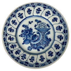 Blue and White Delft Dish Hand-Painted Netherlands, circa 1780