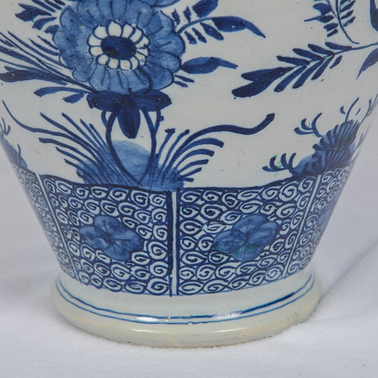 Blue and White Delft Ginger Jars Made in Netherlands, circa 1860 For Sale 3