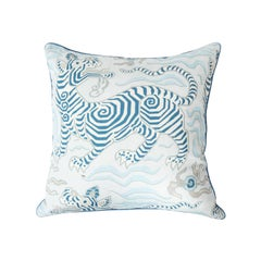 Blue and White Dragon Pillow