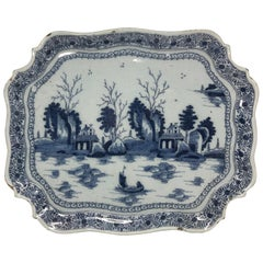 Blue and White Dutch Chinoiserie Platter