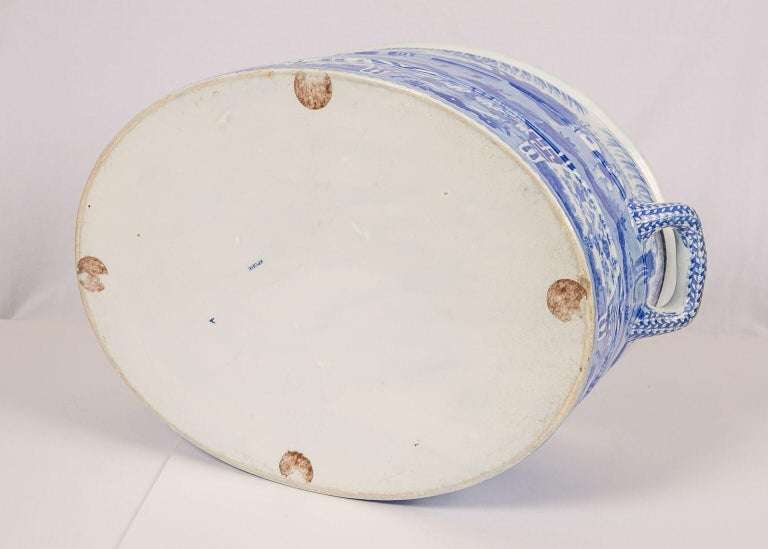 Blue and White Footbath Made by Spode For Sale 2