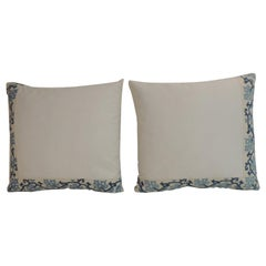 Blue and White Greek Isle Embroidered Decorative Pillows