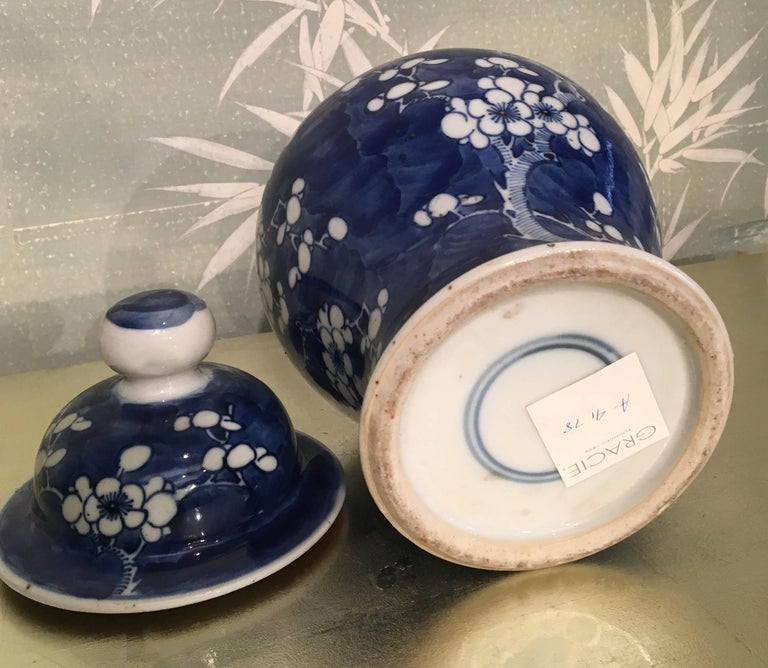 Blue and White Lidded Jar For Sale 1
