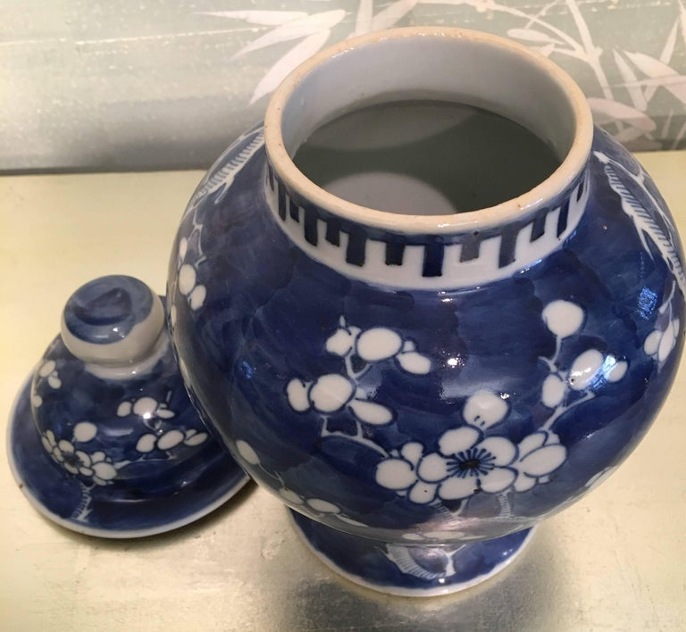 Blue and White Lidded Jar For Sale 2