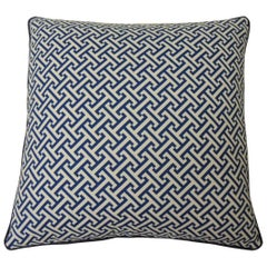 "Blue and White ""Mezze"" Decorative Pillows Double-Sided"