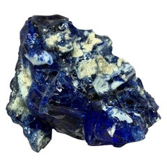 Blue and White Natural Glass Specimen
