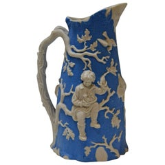 Blue and White Parian Ware Pitcher, circa 1850