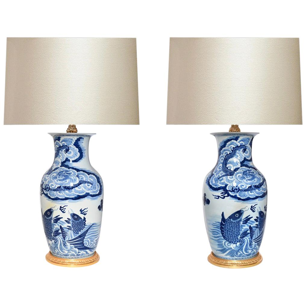 Blue and White Porcelain Lamps