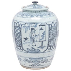 Blue and White Scholars' Scene Ginger Jar