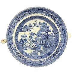 Blue and White Willow Pattern Warming Dish