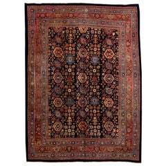 Blue Antique Bidjar Persian Wool Rug