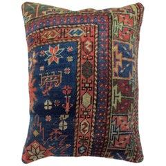 Blue Antique Kazak Rug Pillow
