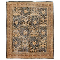 Blue Antique Mahal Handmade Wool Rug