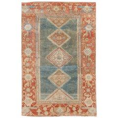 Blue Antique Malayer Handmade Wool Runner