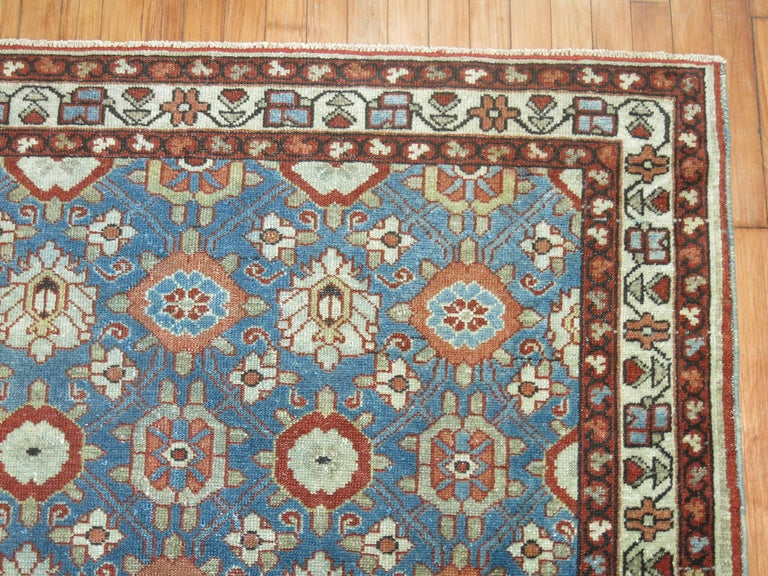 Blue Antique Persian Malayer Rug In Good Condition For Sale In New York, NY