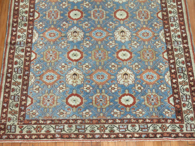 20th Century Blue Antique Persian Malayer Rug For Sale