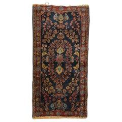 Blue Antique Persian Sarouk Rug