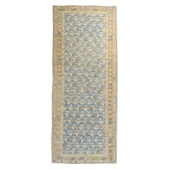 Blue Antique Persian Soumac Flat-Weave Rustic Wide Runner