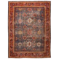 Blue Antique Tabriz Wool Rug
