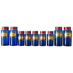 Blue Apothecary Jars
