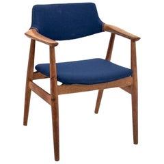 Blue Armchair by Eric Kirkegaard, Danish Design, 1960s After Renovation
