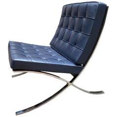 Blue Barcelona Chair, Ludwig Mies Van Der Rohe